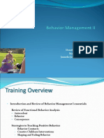 Behavior Management Advanced