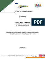 BOMBEO PLIEGO DE CCONDICIONES CA HL 109-2016.pdf