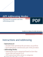 Avr Addressing Modes