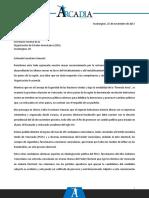 Arcadia - Denuncia Al Sec Gral de La OEA Sobre Injerencia Gob. Vzlano en Elecciones Presidenciales en Honduras