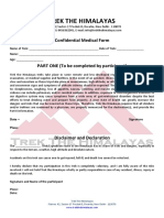 Medical and Disclaimer Form