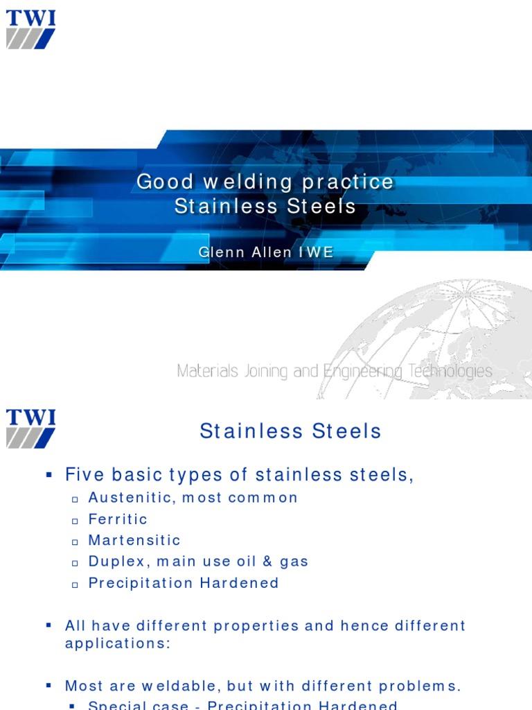 2 Good Welding Practices for Stainless Steel - Glenn Allen