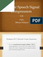 DCT for signal speech