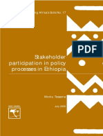 Stakeholders participation in policy analysis in Ethiopia.pdf
