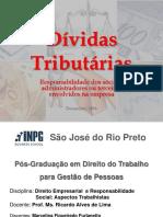 Responsabilidade Dívida Tributária 2016