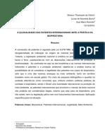 Artigo Eleison Tomazini e Lucas Barra - A (I)legalidade das Patentes Internacionais Ante a Prática da Biopirataria