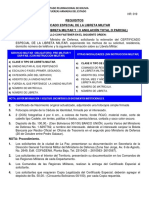 Requisitos Certificado especial de Libreta Militar Bolivia