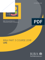 RIBA Part 3 Application Form 2018 UAE