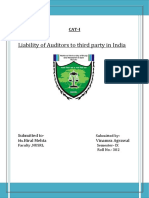 Liability of Auditors to third party in India.docx