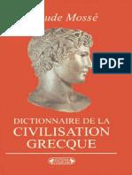 Claude Mosse-Dictionnaire de La Civilisation Grecque-Editions Complexe (1992)
