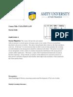 Taxation Law Syllabus