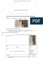 Ceramic Tiles, Terrazzo Tiles and Mosaics Method Statement