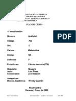 Plan analisis matematico 1 una