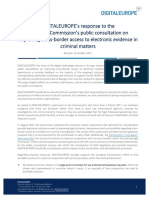 DIGITALEUROPE s Response to the European Commission s Public Consultation on Improving Cross