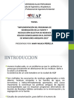 Tesis (Implementación Del Programa de Segregación en La Fuente y Recolección Selectiva de Residuos Sólidos Domiciliarios)