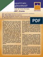Orania - Program vir Konferensie oor Identiteitspolitiek