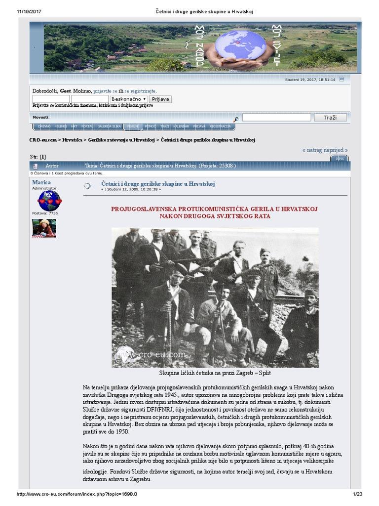Web mjesto za upoznavanje atentatora