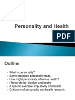 Health Psychology Personality 2017