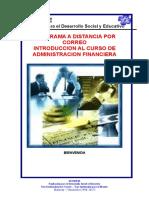 Bienvenida Al Curso Administracion Financiera