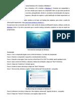 Como Formatar o PC e Instalar o Windows 7