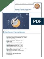 Major Research Funding Agencies _ Department of Ocean Engineering
