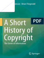Benedict Atkinson, Brian Fitzgerald (Auth.)-A Short History of Copyright_ the Genie of Information-Springer International Publishing (2014)