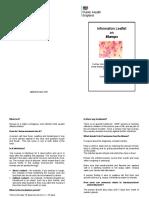 Mumps Leaflet