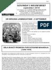 Govinda's Nieuwsbrief 2010_09