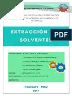 Informe de Extraccion Por Solventes