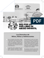 Brochure sobre los derechos y deberes de los NNA por la Red de Niños, Niñas y Adolescentes por un País Libre de Abuso Infantil