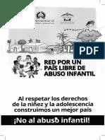 Brochure Abuso Infantil de la Red de Niños, Niñas y Adolescentes por un País Libre de Abuso Infantil