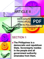 Pgc Article II - Declaration of Principles and Policies