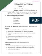 Economics Study Material Em