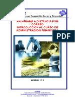 Leccion 1 y 2 Administracion Financiera