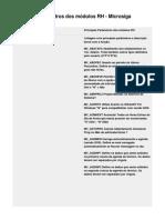 Principais Parâmetros Dos Módulos RH