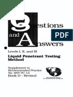 Liquid Penetrant Testing Questions
