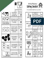 narrative student checklist grade 1