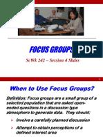 Session 4 Slides Focus Groups