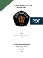 Resensi Buku Daras Pendidikan Agama Islam Di Universitas Brawijaya