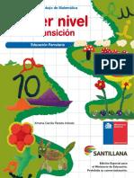 Cuaderno de Trabajo Matematica NT1 Santillana