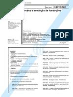 NBR 6122 -1996 - Projeto e Execução de Fundações