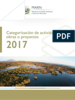 Categorización Obras Actividades Proyectos 2017