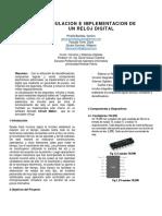 Formato Paper Reloj Digital