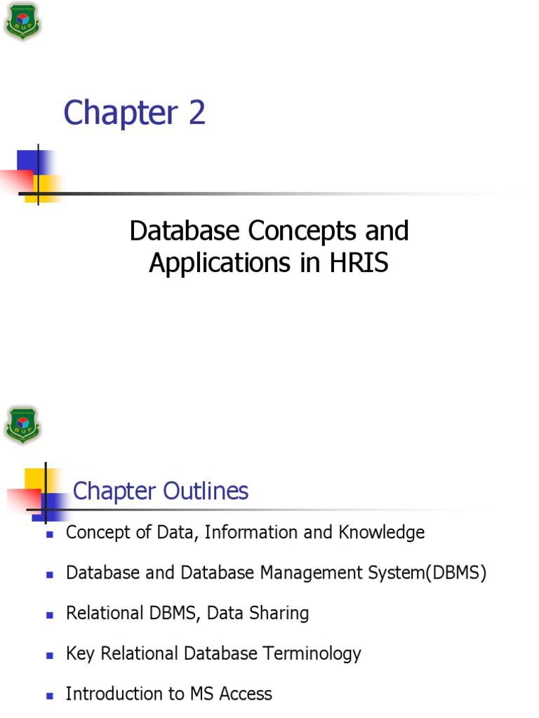 hris chap 2 databases relational database