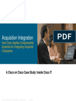Cisco IT Case Study Acquisition Integration Presentation