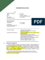Modelo de Informe Wisc IV