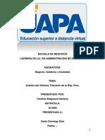 Análisis Del Sistema Tributario de La Republica Dominicana