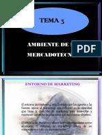 Tema 3 Ambiente de La Mercadotecnia