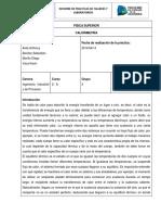 Laboratorio Física Calorimetría.docx