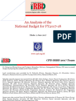Presentation on an Analysis of TheNational Budget for FY2017 18